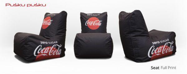 Bedruckte Sitzsäcke COCA COLA