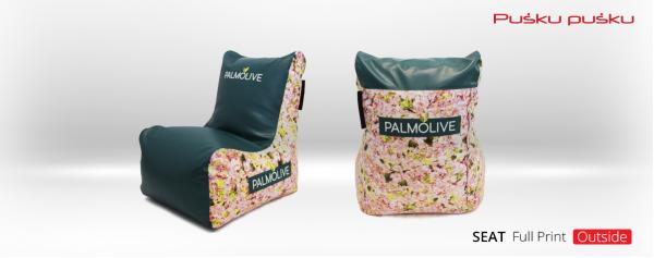 Bedruckte Sitzsäcke PALMOLIVE